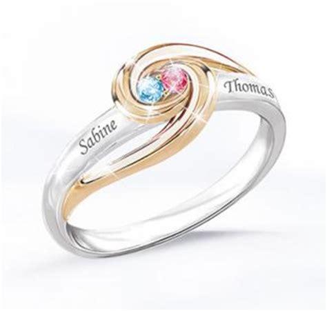 Personalisierter Ring mit Geburtssteinen Für immer