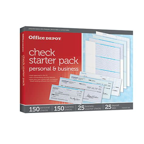Office Depot Background Check Office Depot Brand Starter Check Refill Pack By Office Depot Officemax