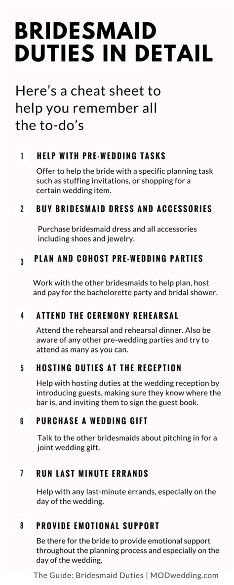 Wedding Budget Responsibilities by Wedding Planning Bridesmaid Duties In Detail Modwedding