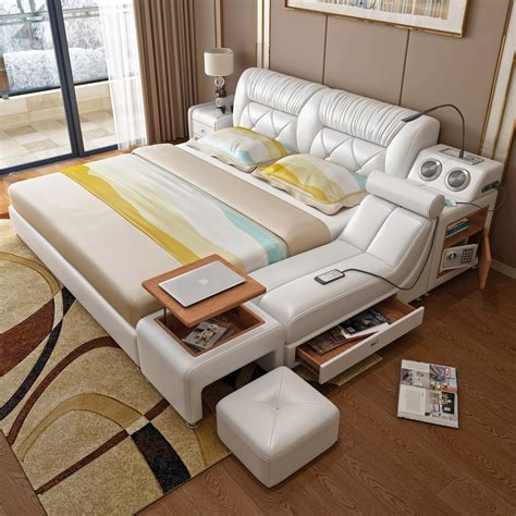 Lit Multifonction De Luxe by Usd 671 96 Tatami Bed Master Bedroom Leather Bed Leather