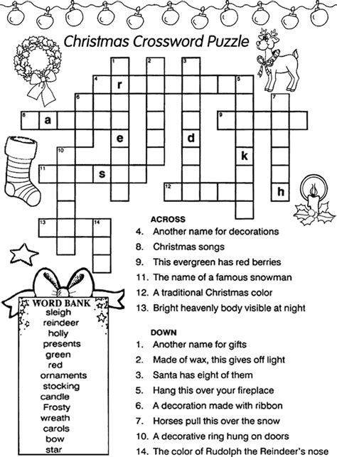 best christmas puzzles and answers best 28 decorations crossword puzzle decorations word search puzzle
