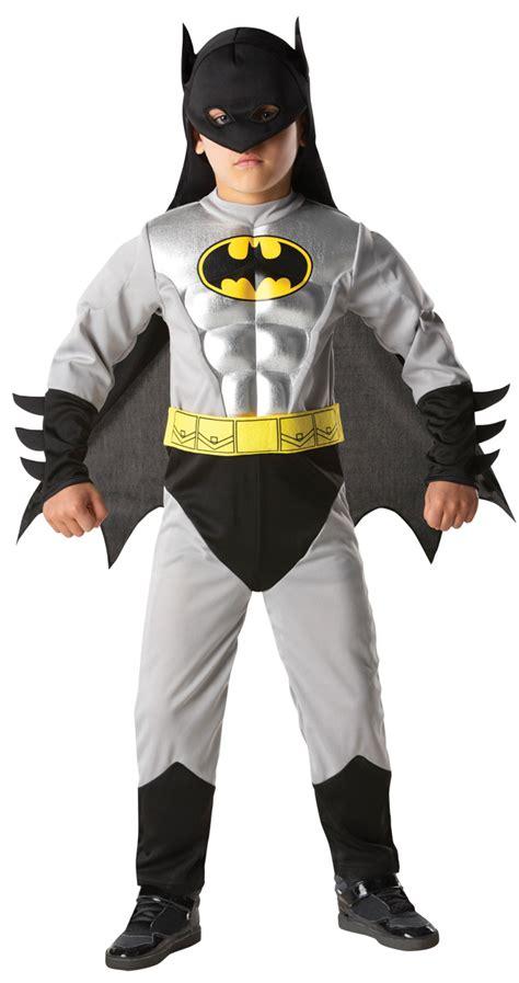 deluxe muscle batman amp robin boys fancy dress superhero
