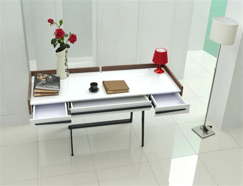 modern white writing desk white and walnut modern writing office desk chicago