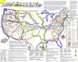 of west map trails of american west map maps for the classroom