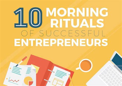 The 10 Entrepreneur 1 10 morning rituals of successful entrepreneurs infographic