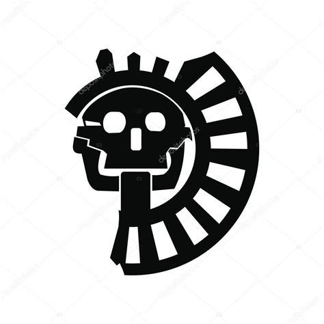 imagenes simbolos de muerte cr 225 neo del dios de la muerte del icono de aztecas