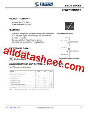 zener diode c27 datasheet bzx 79 zener diode datasheet 28 images bzx79 f6v8 datasheet pdf ark electronics bzx79 c27