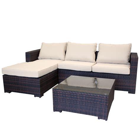 garten lounge garten lounge aus polyrattan gartencouch sofa braun