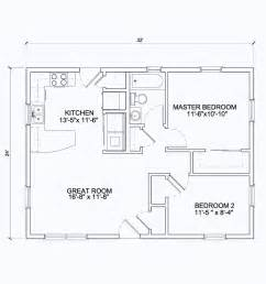 Open Floor Plan 24 X 42 24x32 View Floor Plan 768 Sq 32 X 30 House Plans
