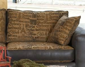 leather and cloth sofa fabric amp leather modern living room sofa amp large chair set