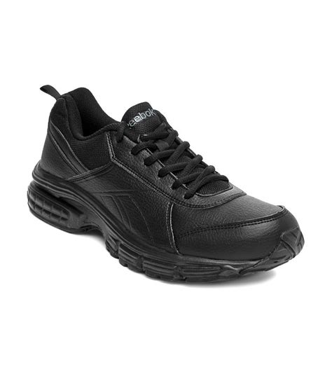 leather sport shoes reebok black synthetic leather sport shoes for buy