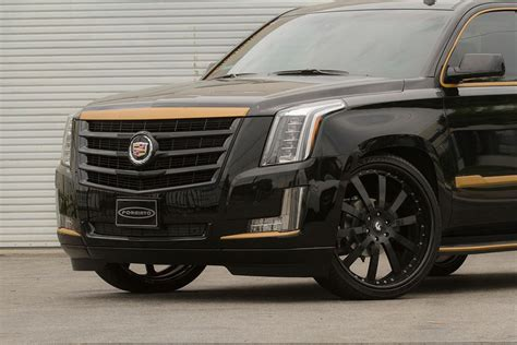 cadillac escalade black rims black and bronze 2015 cadillac escalade on forgiato wheels