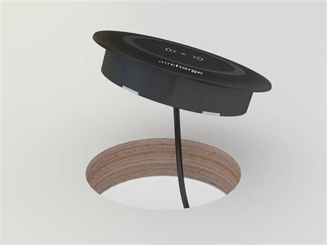 table l with wireless charging wireless surface charger aircharge