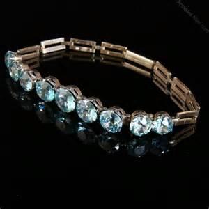 Zircon Bracelet by Antiques Atlas Antique Blue Zircon Gold Bracelet