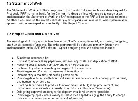 Enterprise Resource Planning Erp Sle Project Plan Project Implementation Agreement Template