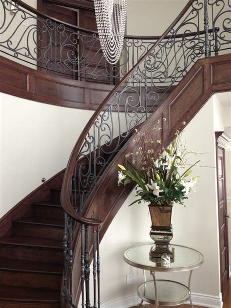 banister in spanish wrought iron railing traditional staircase other