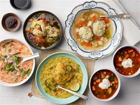 the comfort food cookbook around the world in 40 recipes food to give you the feel factor books chicken soup around the world food network global