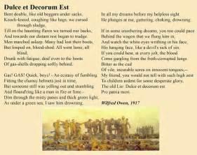 Wilfred Owen Dulce Et Decorum Est Essay by Dulce Et Decorum Est Essays Metaphors In Essay Dulce Et Decorum Est Horace S Ode Dulce Et