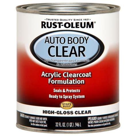 rustoleum clear coat spray paint rust oleum automotive enamel gloss clear 1 qt walmart