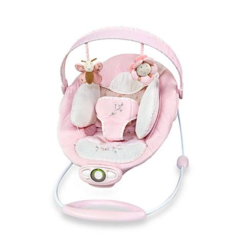 bright starts pink swing bright starts ingenuity automatic bouncer pink buybuy baby