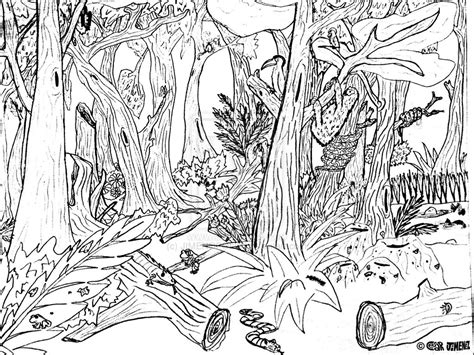 woods animals coloring pages