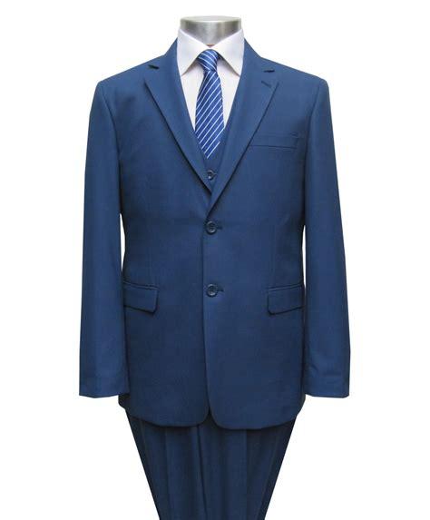 weste knopf offen herren anzug mit weste gr 46 blau ebay