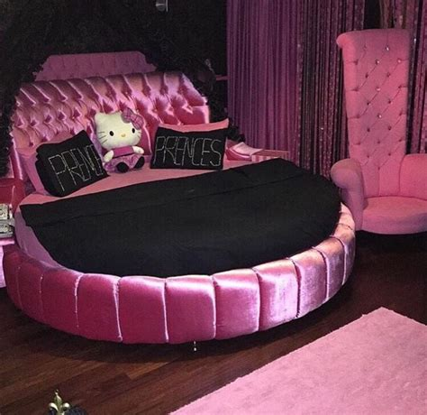 girly beds bed black decor girly hello kitty image 3534980 by