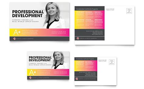 Professional Services Postcards Templates Designs Professional Postcard Templates