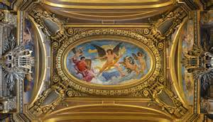 Chateau House Plans ceiling painting by paul baudry in the grand foyer of the