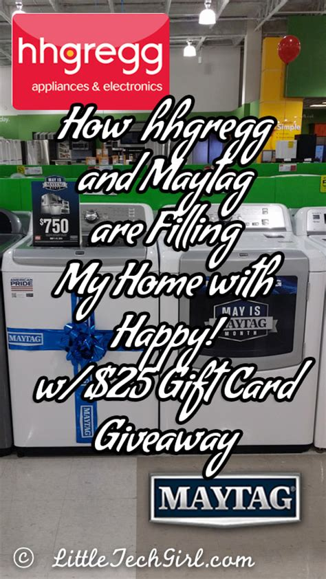 Hhgregg Gift Card - how hhgregg and maytag are filling my home with happy w 25 gift card giveaway