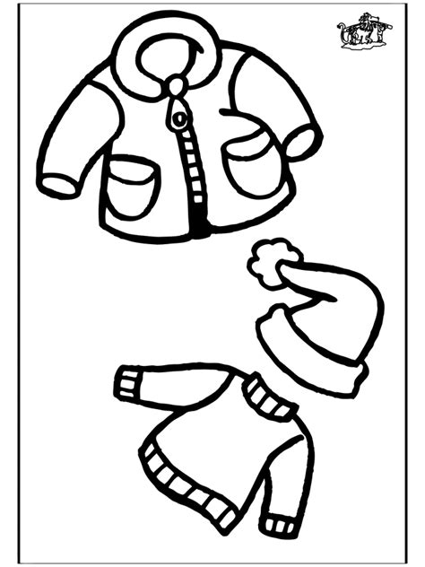 coloring page of winter clothes free printable winter coloring pages for kids