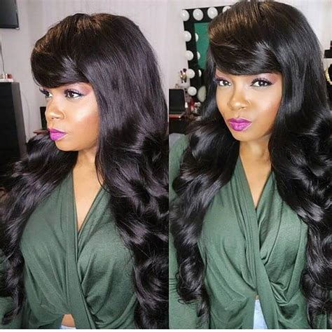 partial sew in with a bangs partial sew in with side bangs www imgkid com the
