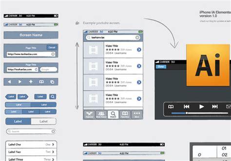 app design template illustrator application pixelpush design