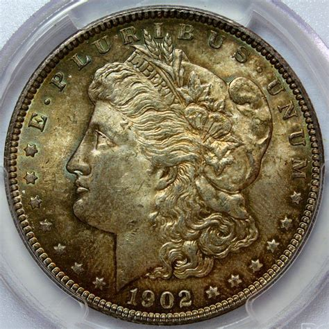 1902 o silver dollar value 1902 silver dollar pcgs ms63 amazing toning ebay