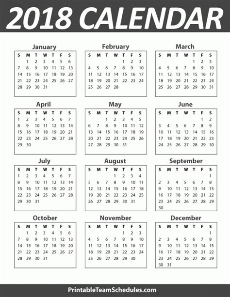annual calendar 2017 portrait printable 2018 2019 incredible yearly