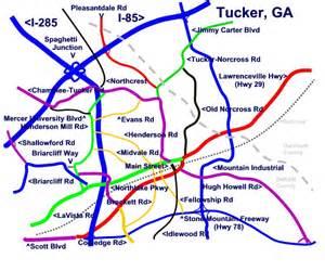 tucker map tucker directions for tucker ga