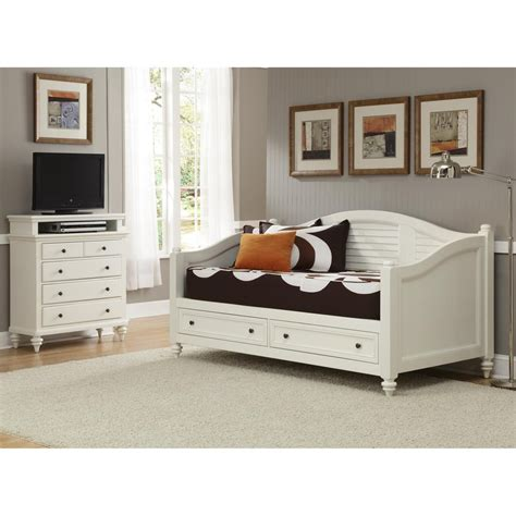 shop home styles bermuda brushed white bedroom set at