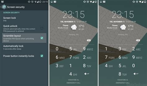 different layout features how to enable scramble pin layout on cyanogenmod 11