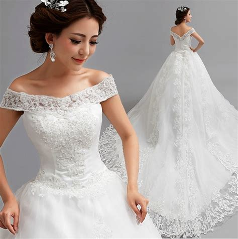 Baju Dress Bayi Perempuan Model Sabrina vestidos de noiva casamento 2016 lace wedding dress ivory