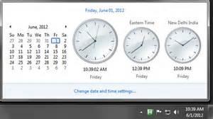 display clocks in windows