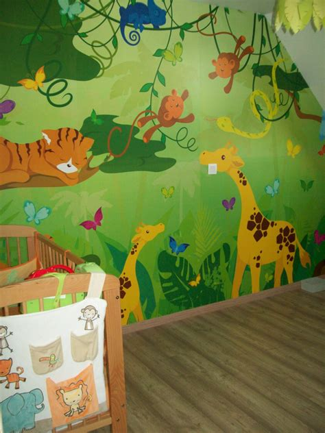 chambre enfant savane d 233 co chambre savane jungle