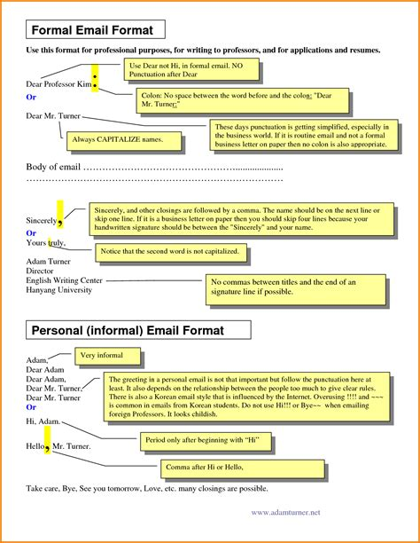 how to write an email template 5 formal email structure financial statement form