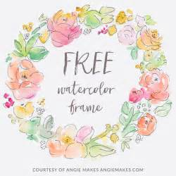free painting no free watercolor flower frame flower frame watercolor