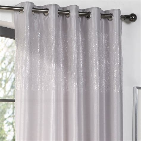 sequin curtain dreams n drapes glamour sequin eyelet curtain panel ebay