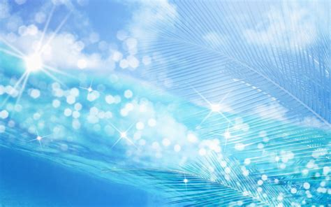 wallpaper desktop biru a moment of blue sparkle between the sea and the sky