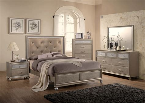 crown mark bedroom furniture lila chagne bedroom set by crown mark