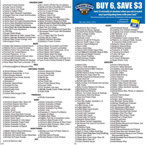 here it is kroger s full inclusions list for their buy 6 here it is kroger s full inclusions list for their buy 6