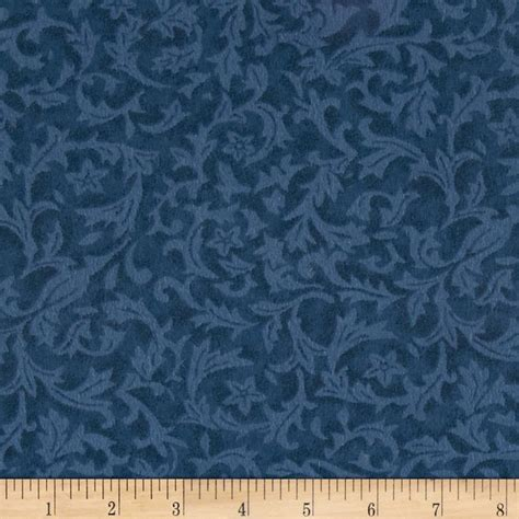 Quilt Back Fabric by 110 Quot Wide Quilt Back Flannel Leaf Denim Discount Designer Fabric Fabric
