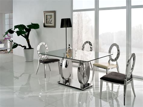 modern glass dining room table luxury modern glass dining table tedxumkc decoration