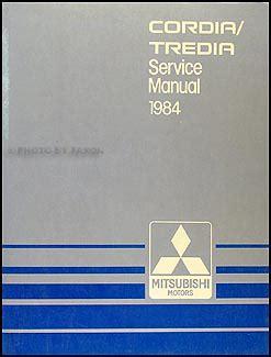 car repair manuals online free 1985 mitsubishi tredia auto manual 1984 mitsubishi cordia and tredia repair shop manual original